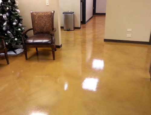 Business Lobby Concrete Floor After