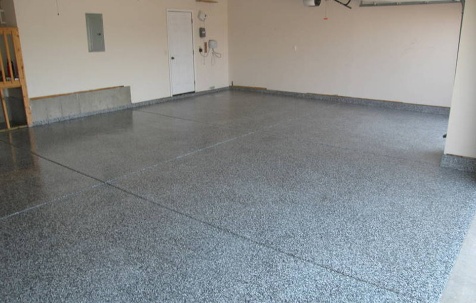 Color flake cement floor